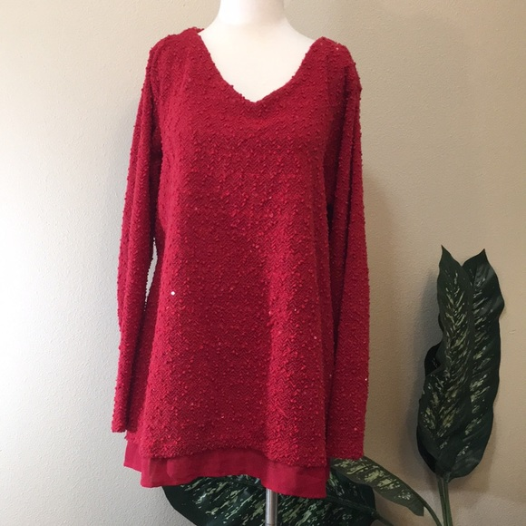 Apt. 9 Sweaters - APT 9 holiday sequin sweater, 3x